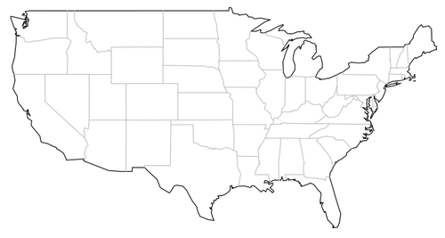 Map Of Usa Vector.Geographic Maps In R Revolutions