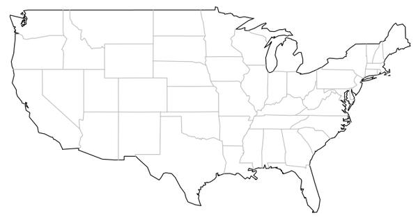 Image Result For Us Map States Printable