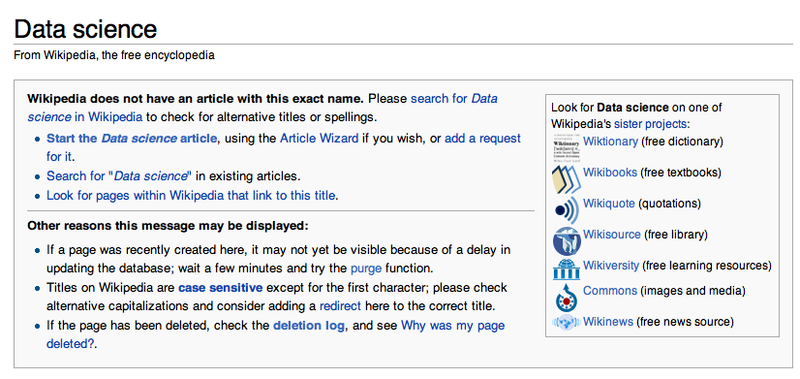 Data Science wikipedia