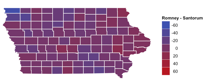 Mapping the Iowa caucus results: how it's done with R