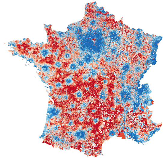 Map Of France Over Time.Mapping Prosperity In France With R R Bloggers