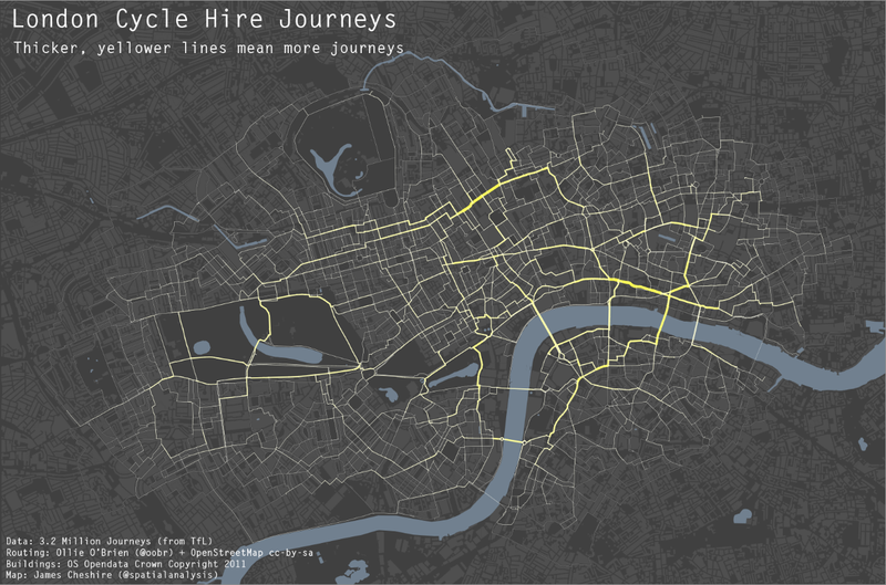 What are the most popular bike routes in London?