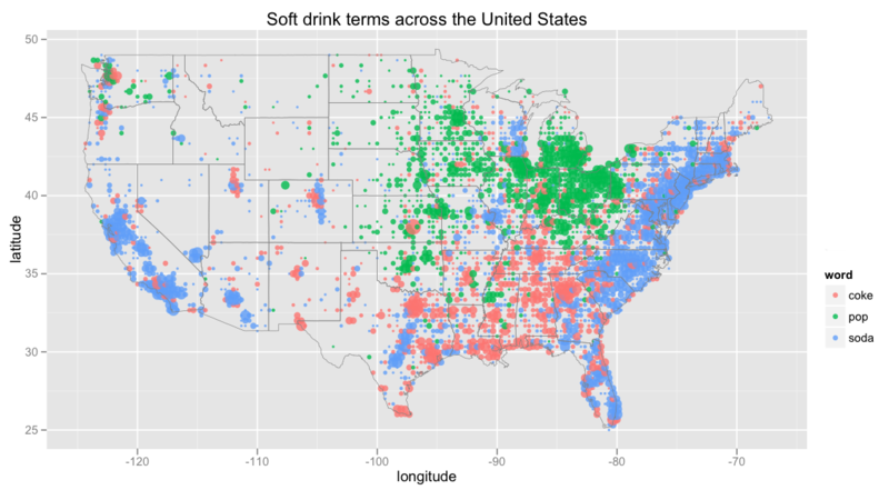 Coke Vs Soda Vs Pop Linguistic Trends Analyzed With Twitter And R - Soda-map-of-the-us