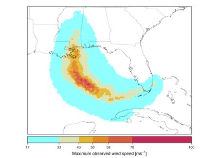 Visualizing Katrina's strongest winds, with R