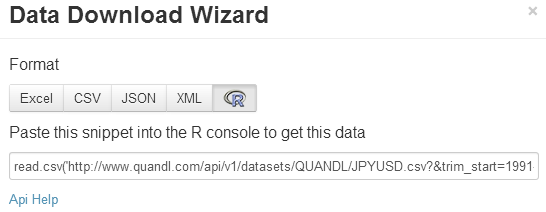 Mini-tutorial for Quandl: How to access financial data with R