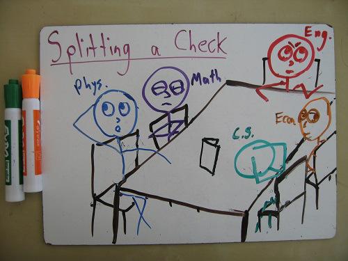Splitting-a-check