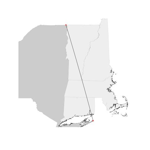 NYC flight path