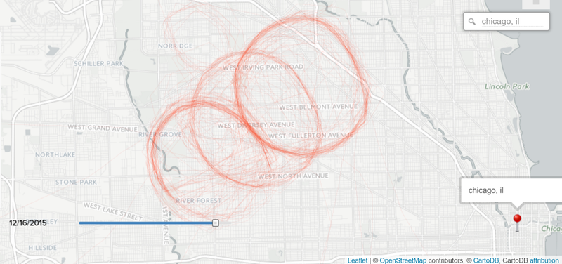 The FBI's aerial surveillance program, visualized with R