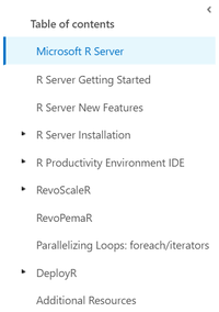 Documentation for Microsoft R Server now online