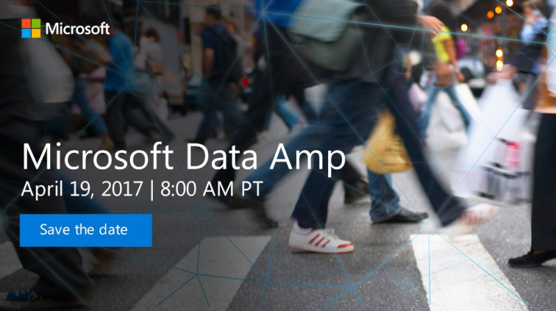 Data Amp: a major on-line Microsoft event, April 19