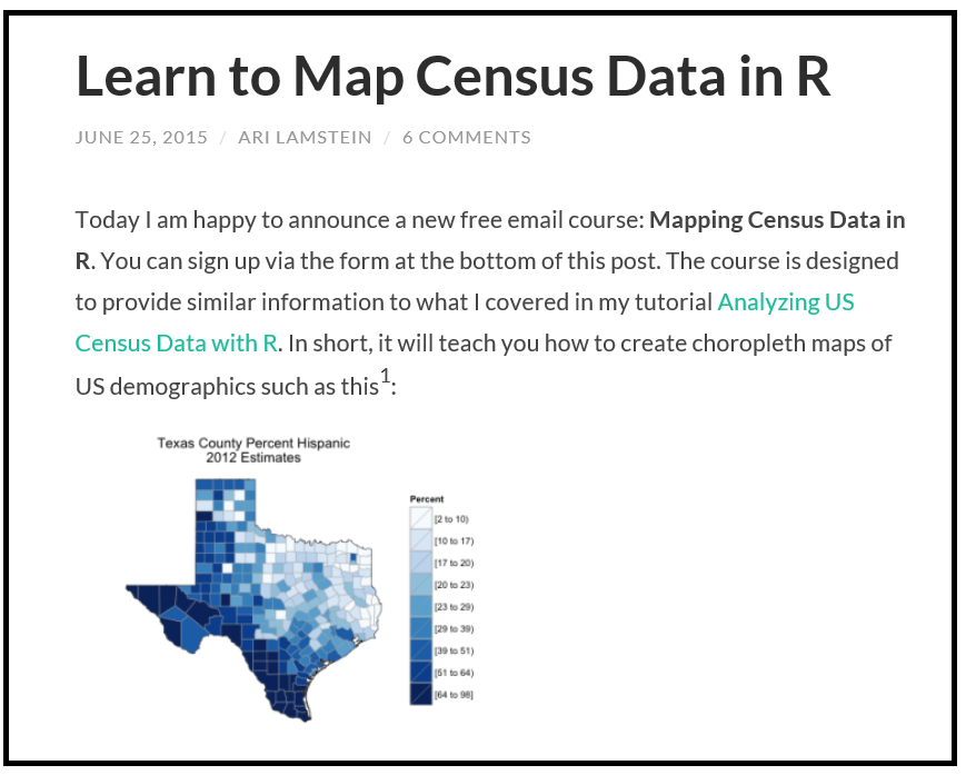 Revolutions Courses - Making map of us in r
