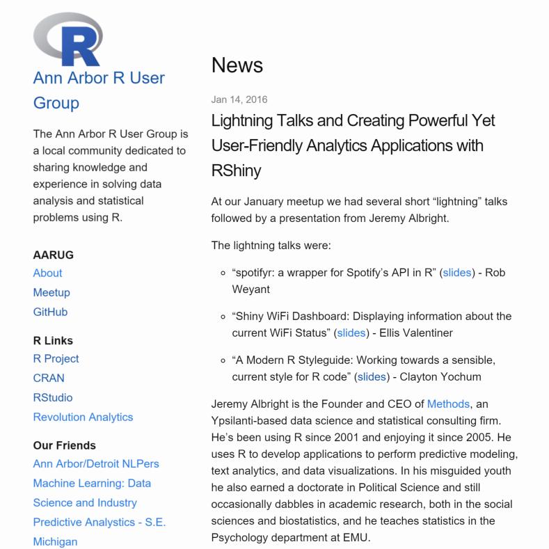 R User Groups on GitHub (Revolutions)