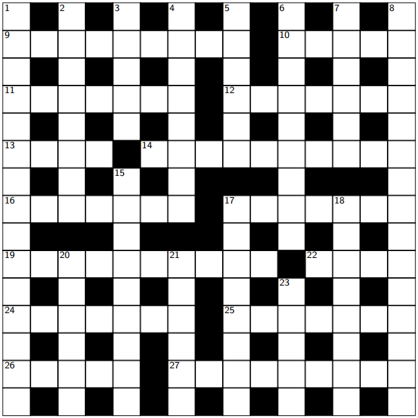 A cRyptic crossword with an R twist