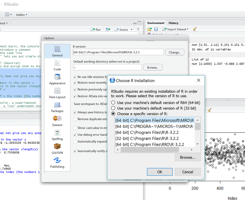 Using Microsoft R Open with RStudio