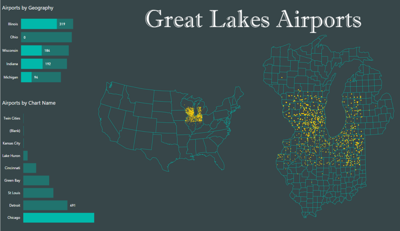 Great lakes airports