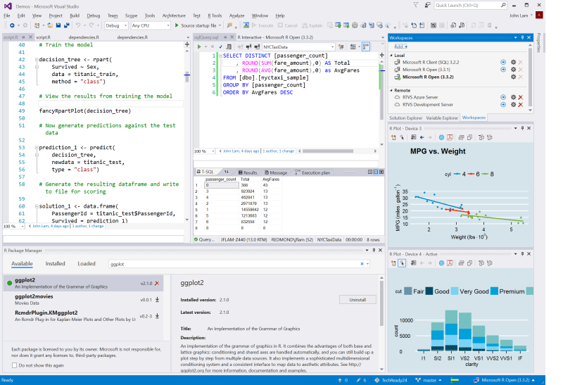 Announcing R Tools 1.0 for Visual Studio 2015