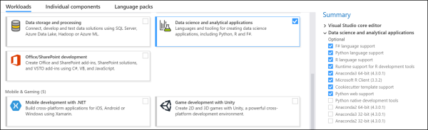 R and Python support now built in to Visual Studio 2017 (Revolutions)