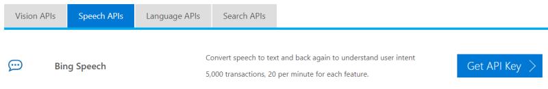 Bing speech